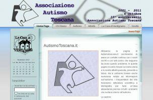 La vecchia Home Page di Autismo Toscana